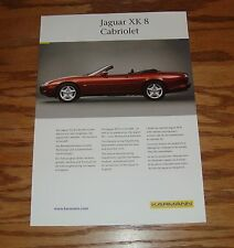 Original 1999 Karmann Jaguar XK 8 Cabriolet Fact Sales Sheet Brochure 99