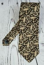 Robert Talbott David August Thick Jacquard Silk Paisley Brown & Bronze Neck Tie