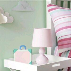 28cm Light Pink Shade Ceramic Table Lamp Home Office Desk Decor KIDS Bed Room UK
