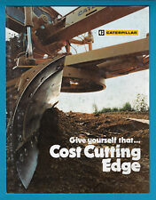 CATERPILLAR GRADER CUTTING EDGES AND END BITS 4 PAGE BROCHURE