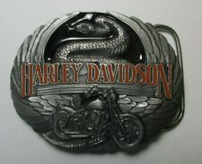 Harley-Davidson 1991 Harmony M88 Belt Buckle Usa Snake Wings Motorcycle