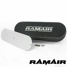 RAMAIR Twin Carb Bolt On Foam Air Filters With Blank Baseplate 45mm Internal