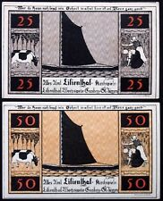 """LILIENTHAL 1921 """"Sailboats, Farming, Cows"""" series B complete set Notgeld Germany"""