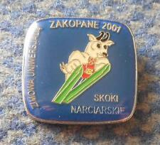 WINTER UNIVERSIADE ZAKOPANE POLAND 2001 SKI JUMPING PIN BADGE