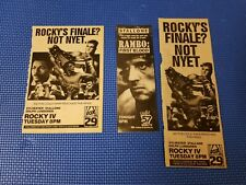Rocky 4 IV RAMBO FIRST BLOOD Poster Print Ad Rare Photo LOT Sylvester Stallone