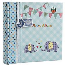 Large Blue Baby Boy Photo Album Holds 200 Photos 4' x 6' Ideal Gift -BA-9851