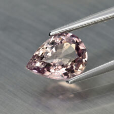 UNHEATED 1.17ct Natural Purple Brown Sapphire Loose New Gem Pear *Certified USA
