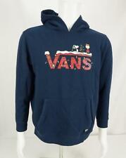 Vans Hoodie Sweatshirt Charlie Brown Peanuts Navy Blue Youth XL