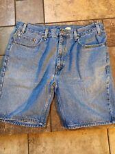 Men's Levis 505 Relaxed Fit Jean Shorts Sz 36 Inseam 8 Euc