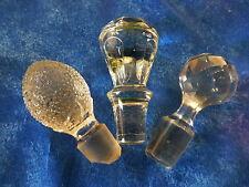 lot 2   bouchons  pleins  anciens xix à facettes ,verre ,collection ou usage