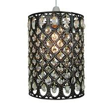 Multi Clear Jewels in Antique Brass Moroccan Pendant Shade by Loxton Lighting