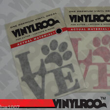 LOVE PAW Vinyl Decal / Sticker - Bumpers to Laptops