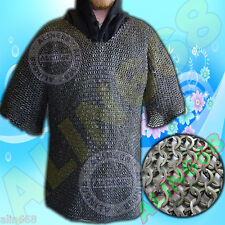 Flat Riveted Flat Washer Chain Mail Shirt XL size Chainmail Haubergeon Costume