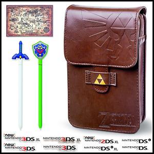 Legend of Zelda Pouch Nintendo New 3DS/2DS XL/DS/DSi/Lite Travel Case + 2 Stylus
