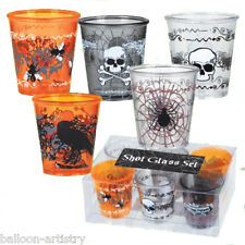 6 Elegant Halloween Gothic Poison Party Shot Glasses x2
