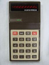 Vintage calculator Taschenrechner HANIMEX VP 8  + case