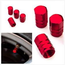 aluminum air valve cover cap red for tire stem wheel rim tyre all car universal