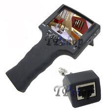TESTER MONITOR PORTATILE TELECAMERE 3.5 RICARICABILE RETE ETHERNET LAN 12V
