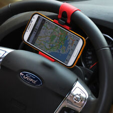 Car Phone Holder Steering Wheel Handlebar Clip Mount for iPhone Samsung Huawei