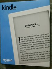 New Amazon Kindle (8th Generation) 4GB, Wi-Fi, 6in - White Bluetooth Audio