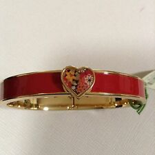 NWT Vera Bradley Pink Heart Bangle Bracelet Jewelry Bittersweet