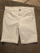 Justice Bermuda Blue Jean Shorts - White - Size 14 Plus - EUC