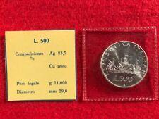 ITALIA FDC 500 Lire 1970 argento CARAVELLE busta sigillata zecca