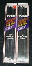 """Tyco Command Control Quik-Clik 15"""" Straight Track #6431 2 Packs of 2 NOS"""