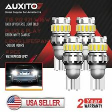 4x AUXITO T15 921 LED Back up Reverse Light Bulb 2400LM Xenon White Error Free