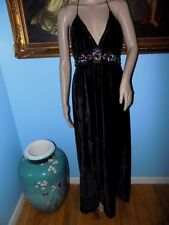 Urban Outfitters Black Dahlia Embellished Velvet Maxi by Ecote-XS