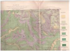 Dardanelles region California 1896 Color Map Timber