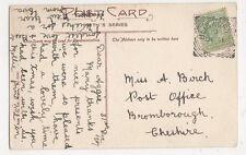 Miss A. Birch, Post Office, Bromborough Cheshire 1907 Postcard, B180