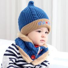 Baby Boys Girls Children Beanie Letter Cotton Hat Print Hats Knitting Hats Scarf