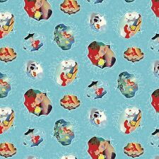 1 yard Disney The Little Mermaid Ariel Movie Posters  Fabric