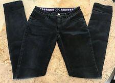 VERSACE Straight Leg Pencil Jean / Denim / Stretch / Black - Size 26