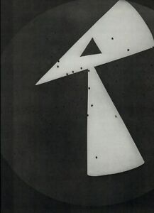 1975 Man Ray Rayogram Photogram Triangle Abstract Art Photo Gravure