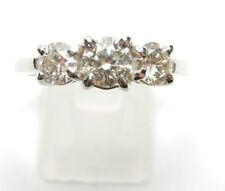 Three-Stone Engagement White Gold Good Fine Diamond Rings
