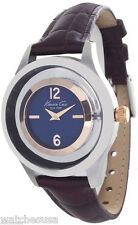 Kenneth Cole New York Watch Women's Blue Dial Brown Leather Strap  KC2784