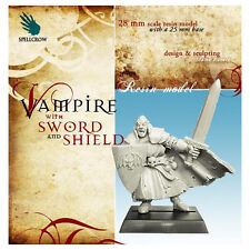 Fantasy Miniatures: Vampire w/ Sword and Shield Spellcrow New