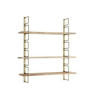 Wall Rack Hanging Mango Wood Shelves by Madam Stoltz