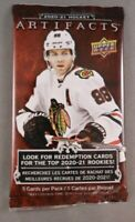 New 2020-21 Upper Deck NHL Hockey ARTIFACTS Series Sealed 5 Card Pack