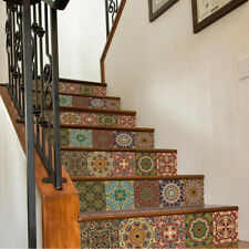 3D Stair Wall Sticker DIY Tile Backsplash Decals Removable Staircase Decor Mural