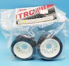 "Vintage TRC 1052 White BBS Mounted Rear Tires 1 1/2""1/10 RC Pan Car Part"