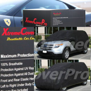 2016 2017 2018 2019 2020 FORD EXPLORER BREATHABLE CAR COVER W/MIRROR POCKET BLK