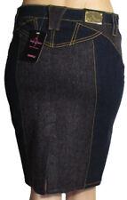Baby Phat Jeans Rock VELVET W28 Gr. 34-36 Katze gestickt Rinse Wash gold