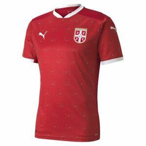 Puma Football Soccer Serbia Mens Home Jersey Shirt 2020 2021 Red White