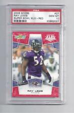 Ray Lewis 2008 Score Super Bowl XLIII Red PSA 10 Gem Mint
