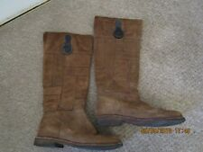 VINTAGE TIMBERLAND GENUINE LEATHER KNEE HIGH SIZE 5.5W WOMENS  FLAT BOOTS