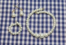 "Classic Pearl Jewelry Set 14K for 18-22"" Vintage Fashion Doll Miss Revlon Cissy"