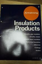 Armstrong Insulation Products Catalog~Asbestos~Emulsion/Sealers/Plastic~Cork '68